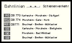 Anfahrtsskizze Pforzheim mit der Bahn
